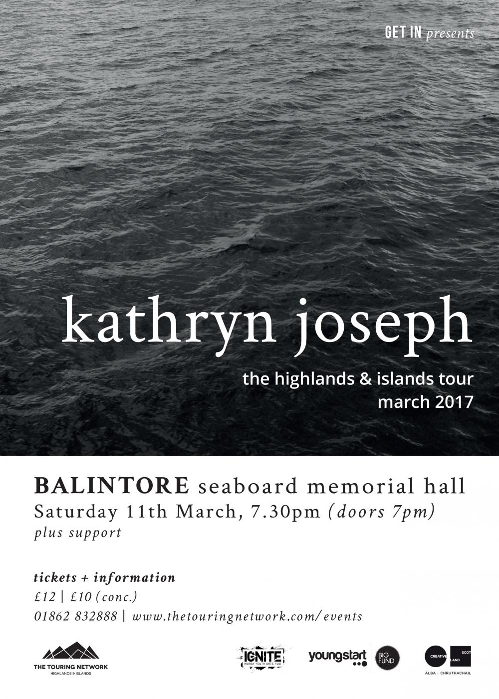 Kathryn Joseph plus support