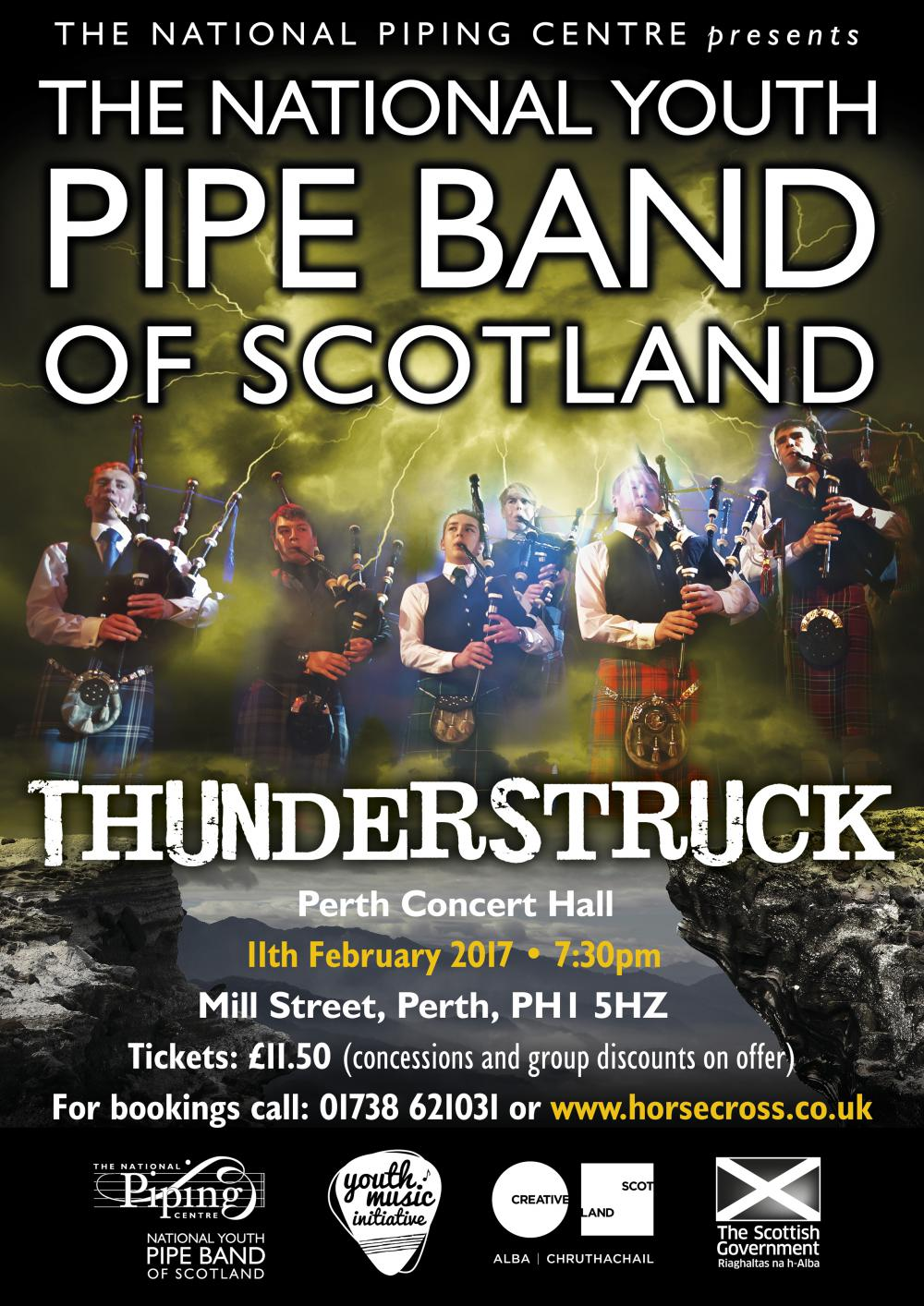 The National Youth Pipe Band of Scotland presents Thunderstruck